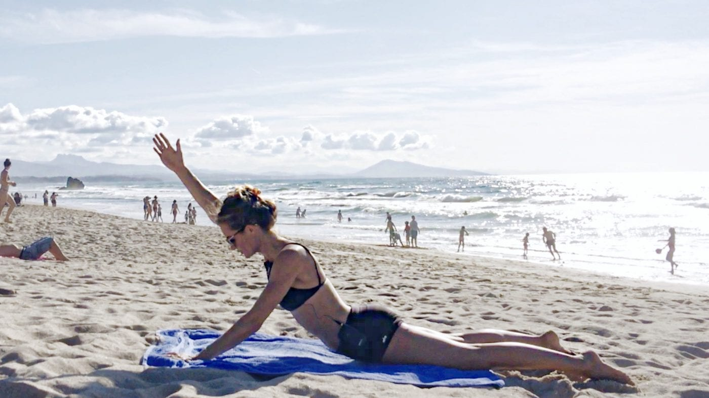 core power and control beach workout