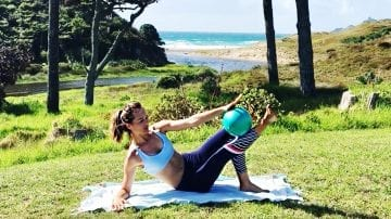 sculpt thighs & abs Hot Potato Go! PILATES MAT by Gone Adventuring