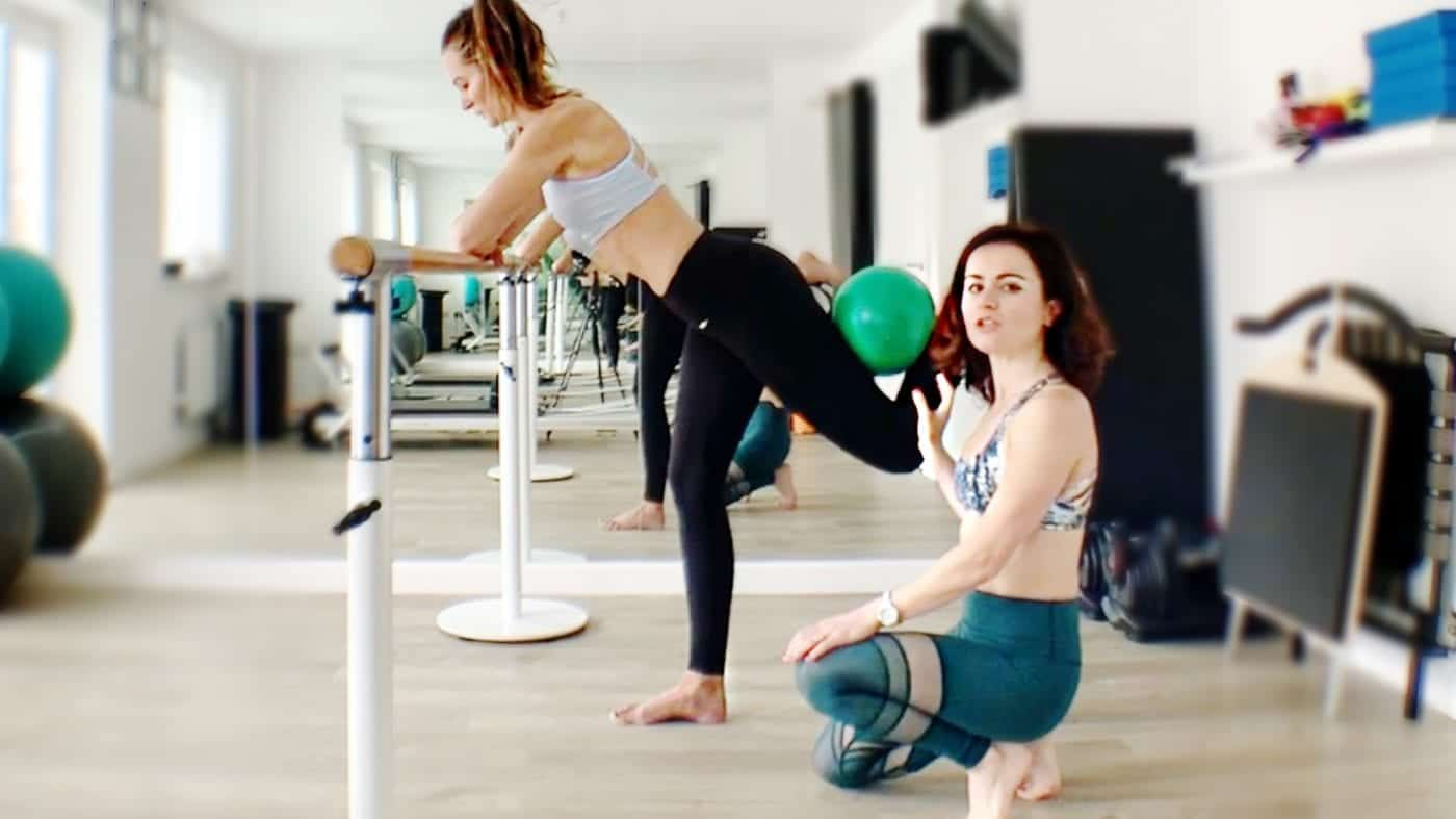 """Glute Press & Clam Shell """"How To"""" Barre tutorial by Gone Adventuring"""