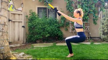 Lower body suspension workout, Barre-inspired by Gone Adventuring