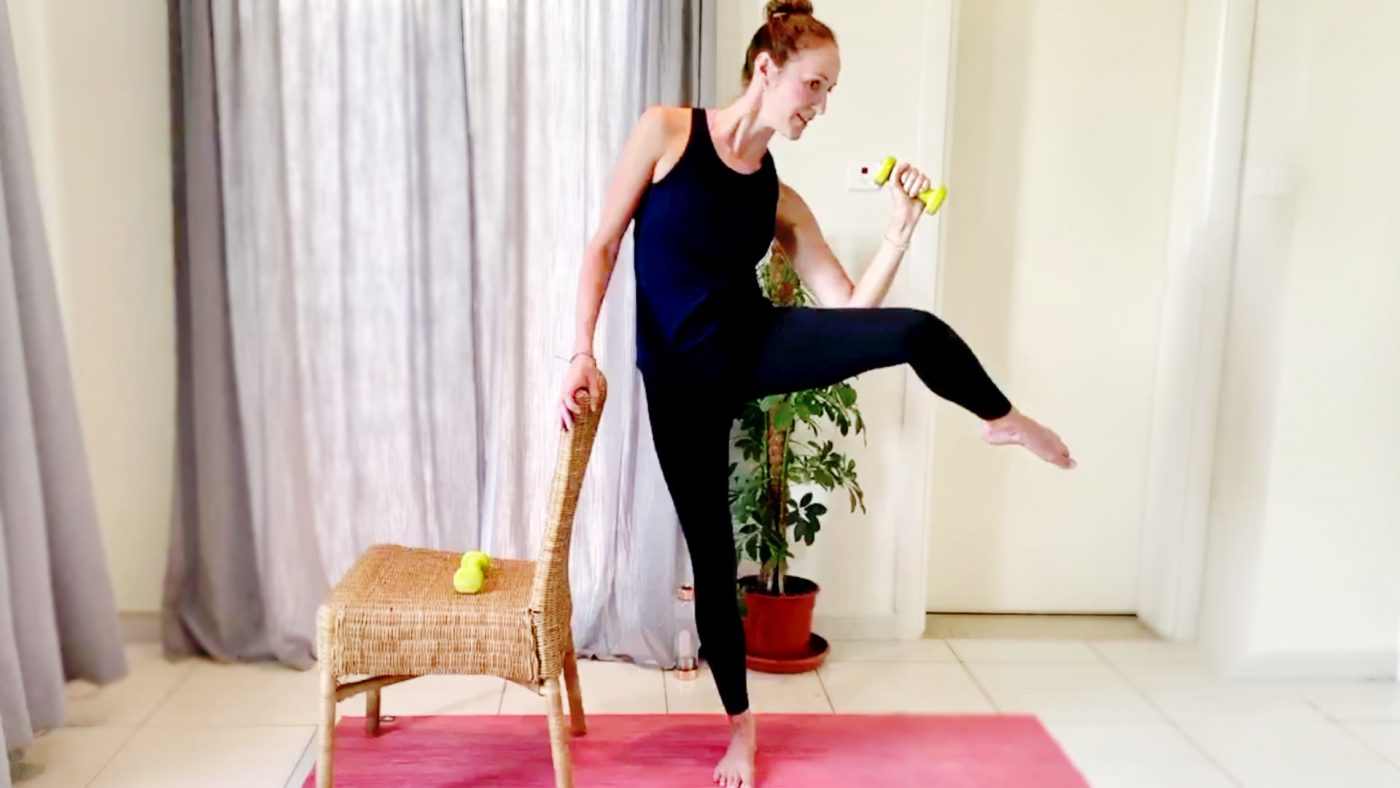 Booty Barre at Home workout with Vicky, Live Replay on Gone Adventuring
