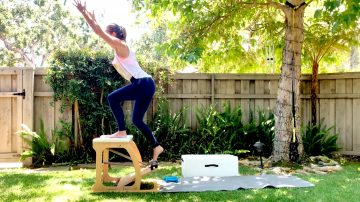 Mountain Climber Chair Workout by Gone Adventuring