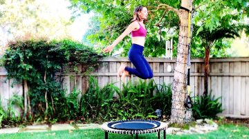 Cardio Bounce it! Rebounding Trampoline Workout by Gone Adventuring