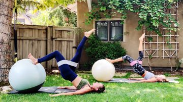 Abs + Booty Stability Ball Strong Workout by Gone Adventuring