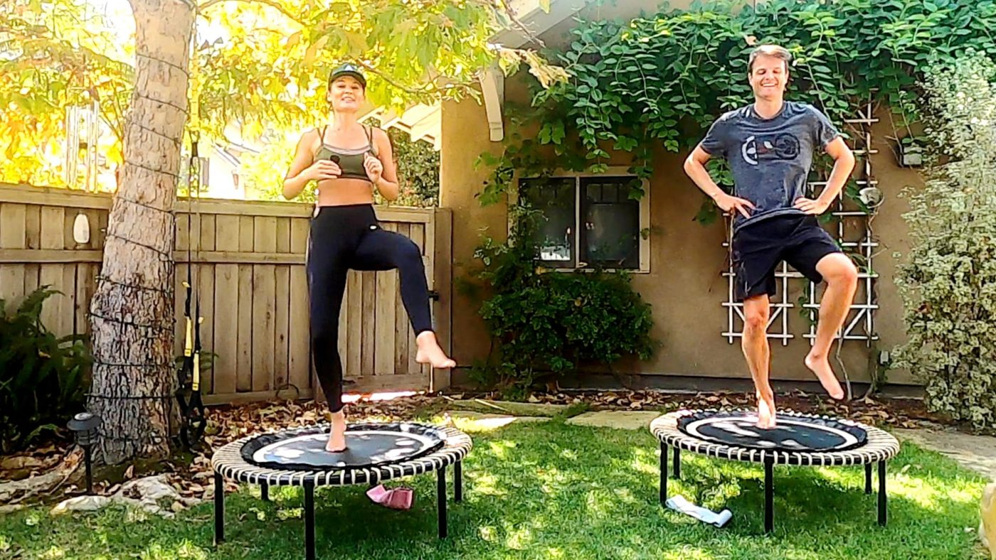 Booty Bands Butt, Hips and Thighs Workout meets Rebounder Reshape! by Gone Adventuring