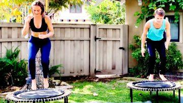 Trampoline Workout using Plyometrics, HIIT training + Cardio by Gone Adventuring