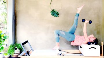 Day 28: Reformer Pilates Lower Body Toning Lifts, Kicks & Skates with Gone Adventuring