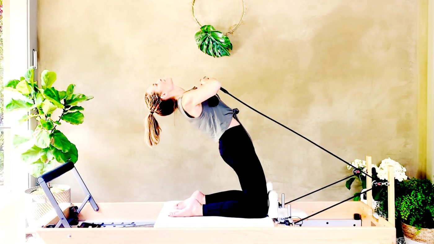 Eccentric Strengthening in Classical Reformer Pilates, our Theme of Day 8 by Gone Adventuring