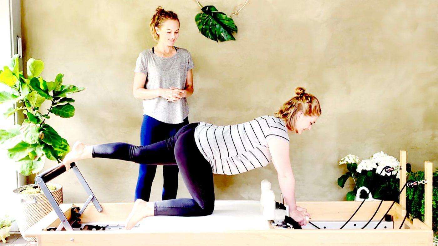 Mom's Luscious Legs, Prenatal Reformer Pilates videos online at 23 weeks by Gone Adventuring