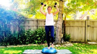 Weighted HIIT Workout with Bosu ball by Gone Adventuring