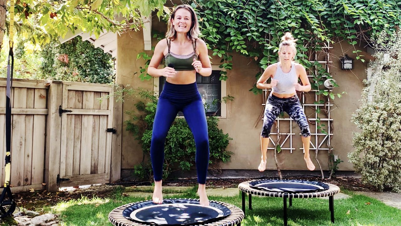 30 Min Rebounding Workout - Cardio Sprints + Core Strength by Gone Adventuring