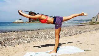 Stretch & Strong Resistance Mat workout by Gone Adventuring