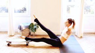 glider workout great beginner ABS, CORE Skater by Gone Adventuring