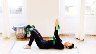 Pilates neutral spine supine How To by Gone Adventuring