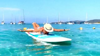 SUP Pilates in Porquerolles, France by Gone Adventuring
