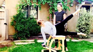 Prenatal Pilates videos - Chair & TRX Lower Body Combo at 20 weeks by Gone Adventuring