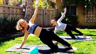 Prenatal Pilates Workout, Full Body Flow at 12 Weeks by Gone Adventuring