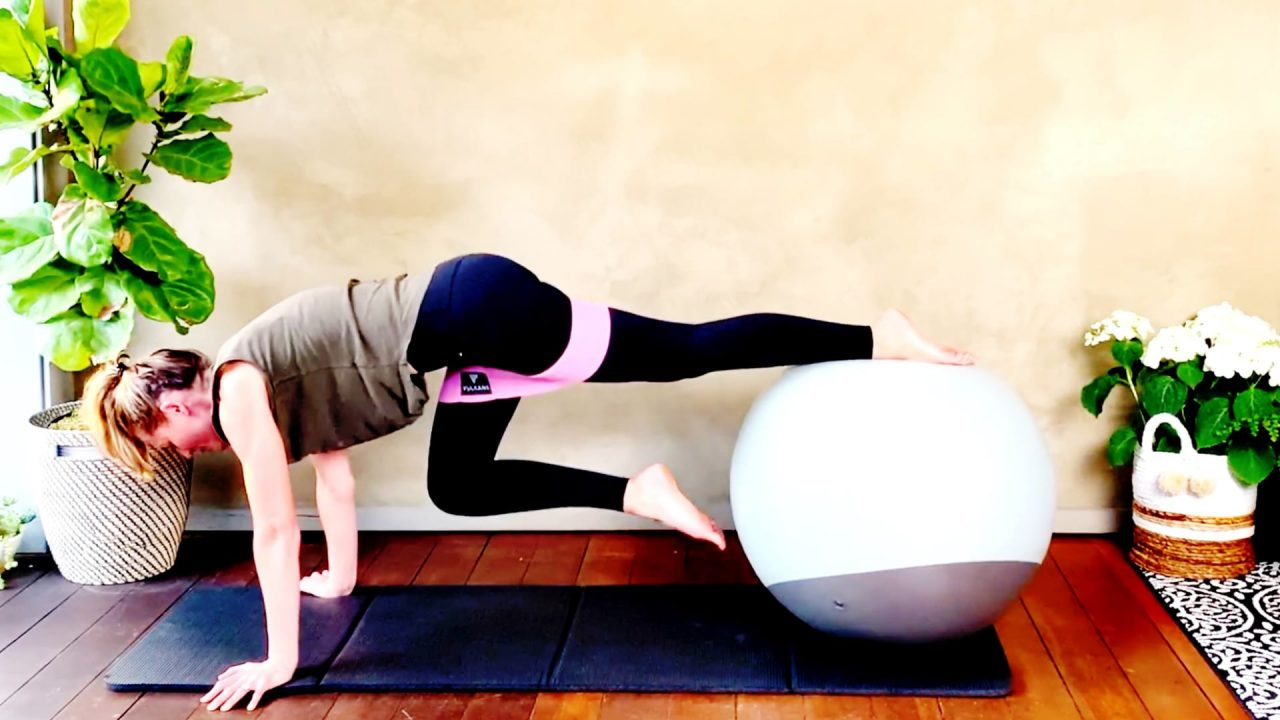 Exercise Ball Killer Crunches, Day 8 Rock your Core by Gone Adventuring