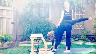 Momma's Got Happy Hips 🙌 Prenatal Pilates online at 22 weeks by Gone Adventuring
