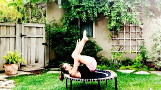 Barefoot Carefree Cardio: Easy, Breezy Trampoline Workout from home! by Gone Adventuring