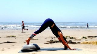 Bosu on the Beach, Full Ab workout routine, Rock your Core, Day 16 by Gone Adventuring