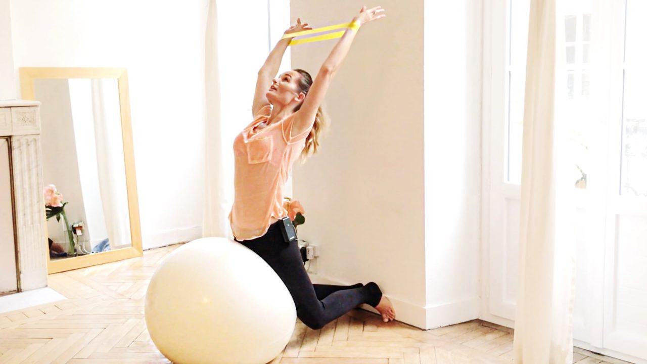 Booty Back & Balance Pilates Barre using balls & bands-Gone Adventuring