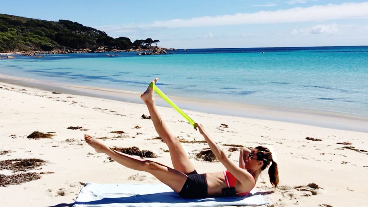 body sculpt on the beach PILATES MAT by Gone Adventuring