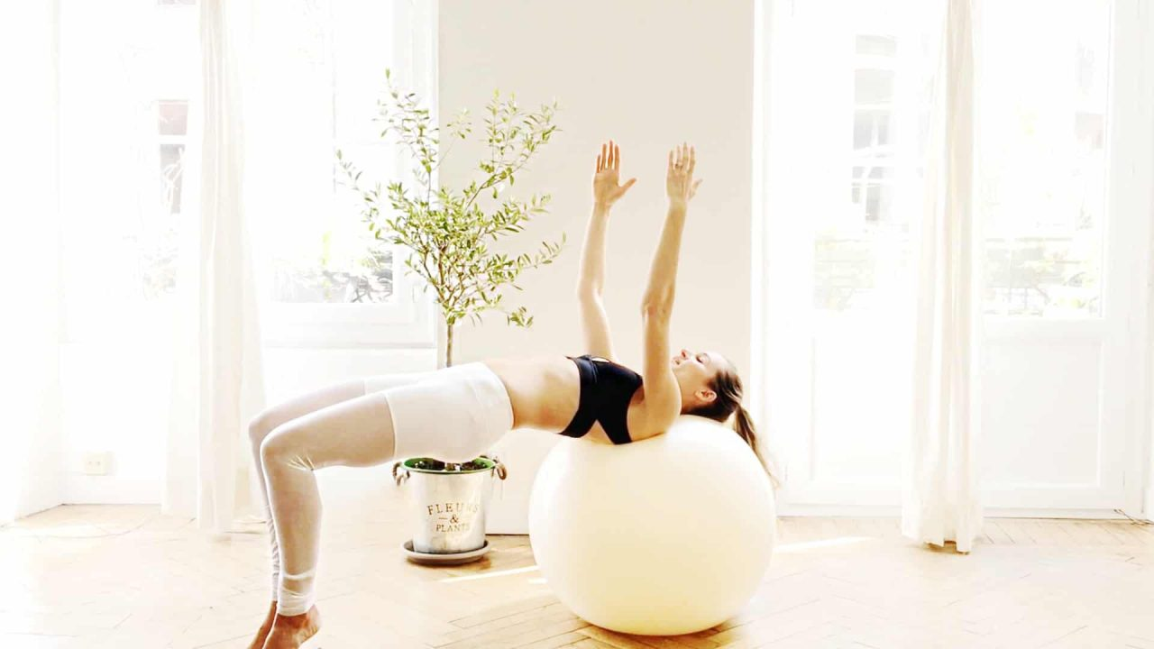 Total body stronger FIT Ball Pilates workout video